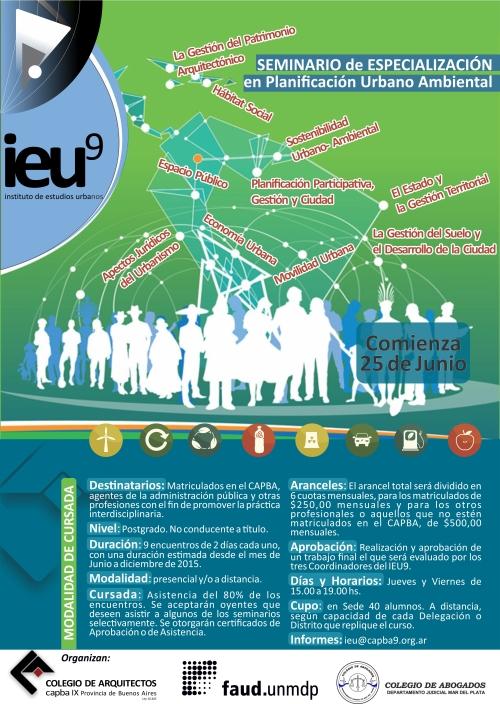 Afiche seminario Especialización